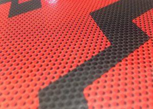 Markenwerbung rot-schwarzes Notizbuch-Myrix