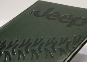 Markenwerbung dunkel grünes Notizbuch-Myrix
