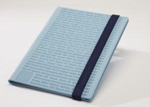 Markenwerbung hell blaues Notizbuch-Myrix
