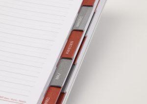 Markenwerbung weisser Kalender-Myrix