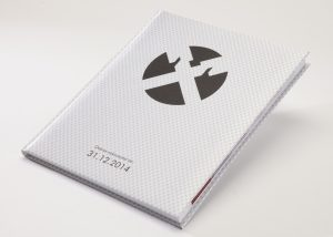 Markenwerbung weisses Notizbuch-Myrix