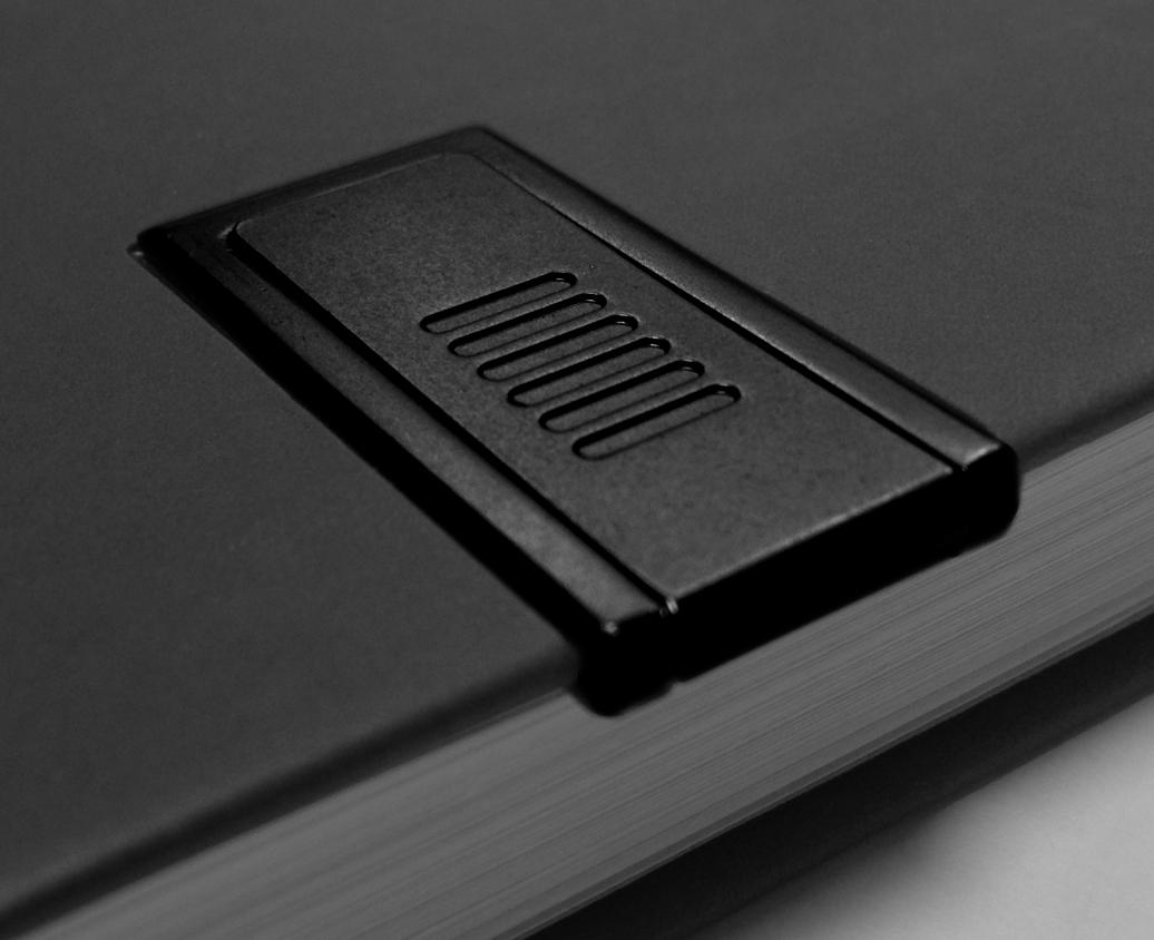 Webegeschenk Personalisiert Notizbücher mit USB stick schwarz für Werbung 2017