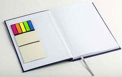 Werbegeschenk Notizbuch mit Haftnotiz-Blöcken 2017