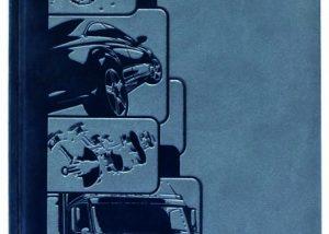 Markenwerbung blaues Notizbuch-Myrix