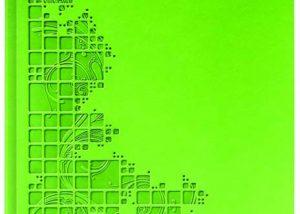 Markenwerbung grünes Notizbuch-Myrix