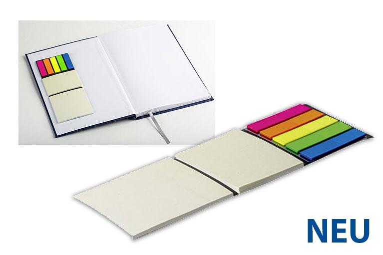 Werbegeschenke Notizbücher mit selbstklebenden Trägerplatte für werbung 2017
