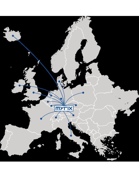 Vertrieb in Europa