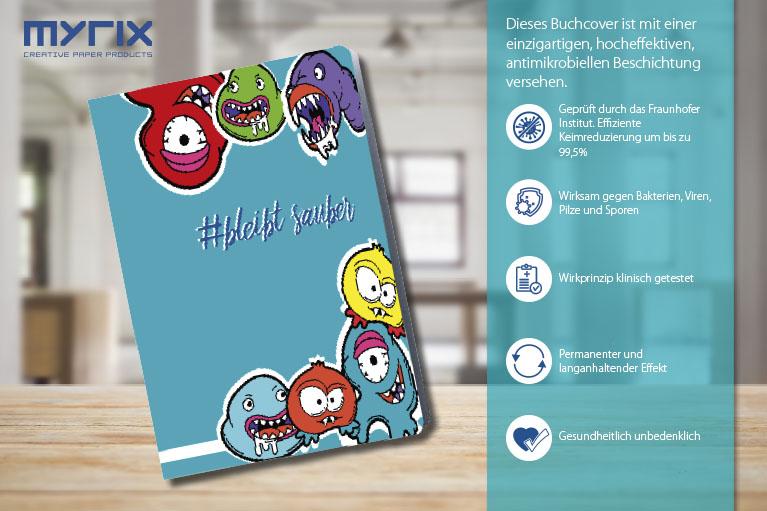 # Bleibt sauber – mit unserem neuen antimikrobiellen Notizbuch