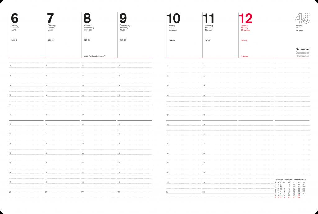Innenteil Managerkalender